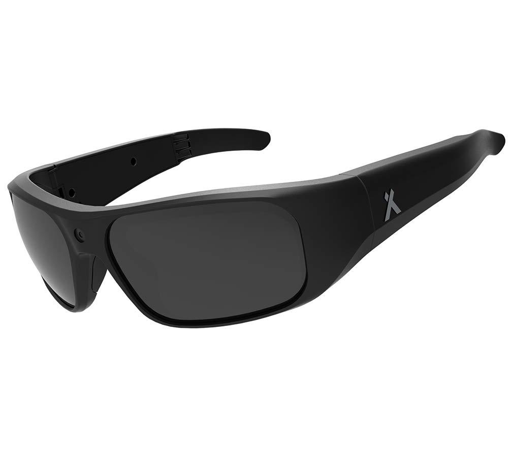 Bear Grylls wasserdichte Full HD Action-Kamerabrille, 1080p, 30fps, Sportsonnenbrille mit polarisierten und klaren Gläsern, 90 Minuten Aufnahmezeit, 16 GB interner Speicher und Grilamid TR90-Rahmen