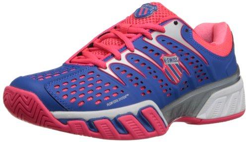 Zapatillas De Tenis Bigshotii K-swiss Para Mujer Daphne Blue / Neon Red / White