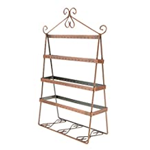 Retail Shop Earring Jewelry Display Large Stand Holder Organizer Copper