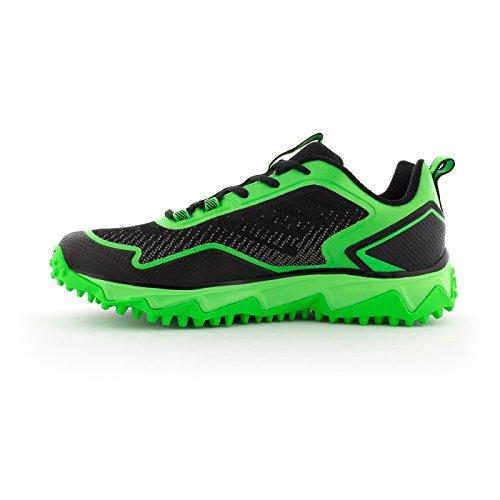 Boombah Hombres Berzerk Turf Zapatos - 13 Opciones De Color - Varios Tamaños Negro / Verde Lima