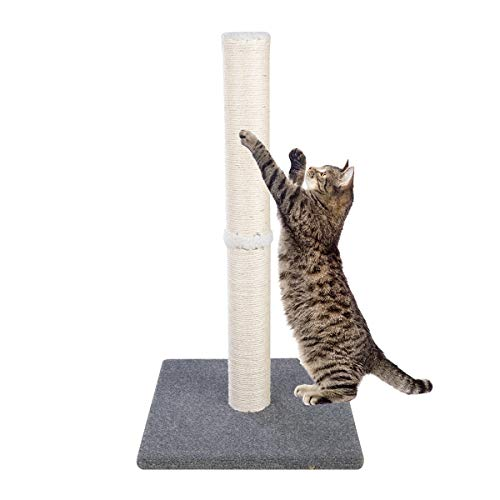 Dimaka 29' Tall Cat Scratching Post, Claw Scratching Sisal Post for Kittens and...