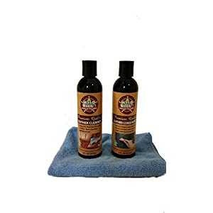 Wild Bill's Leather Cleaner & Wild Bill's Leather Conditioner KIT, Clean & Restore Leather in Cars, Furniture, Purses, Saddles, Shoes, Boots, Bags & more. Made in U.S.A. & Eco Friendly.