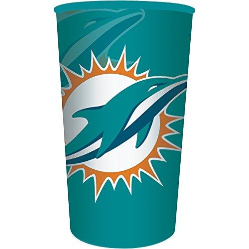 Miami Dolphins 22oz Plastic Favor Cup