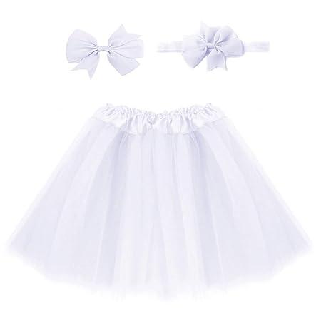 Yeahlvy - Falda de tutú para niña, diseño de Tul, Color Vibrante ...