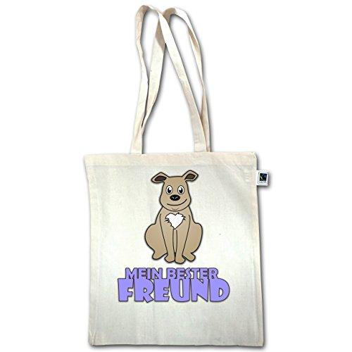 Tiermotive Kind - Mein bester Freund Hund - Unisize - Natural - XT600 - Jutebeutel lange Henkel oTSWKfiCS