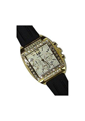 Paul Versan - Reloj caballero acero dorado y caucho, color dorado-blanco-negro: Amazon.es: Relojes