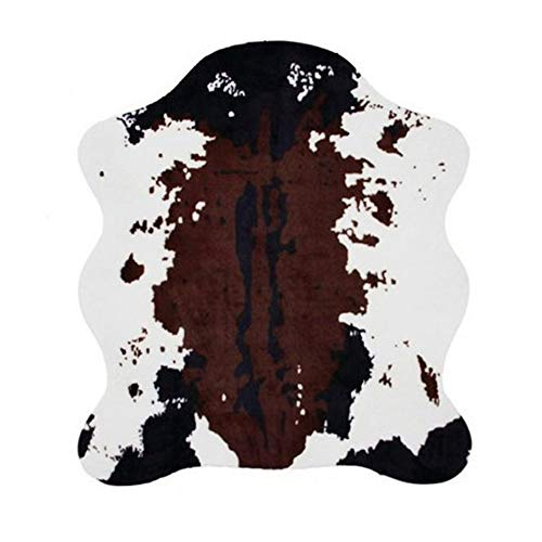 MustMat Faux Cowhide Rug 4.6'x5.2' Cute and Soft Animal Print Area Rug for Living Room/Bedroom/Dining Room