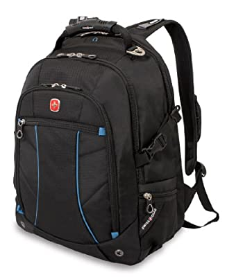 Swiss Gear SA3118 Black with Blue Laptop Backpack - Fits Most 15 Inch Laptops and Tablets by SwissGear
