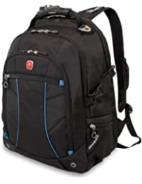 SA3118 Black with Blue Laptop Backpack - Fits Most 15 Inch Laptops and Tablets