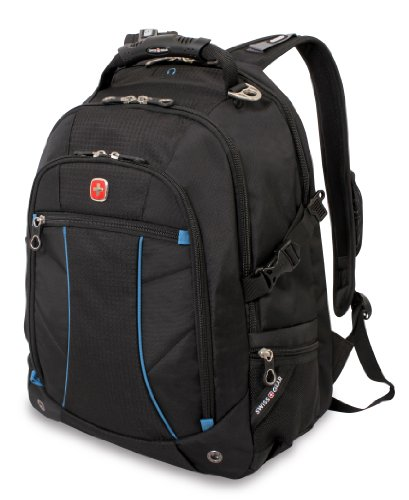 Swiss Gear SA3118 Black with Blue Computer Backpack - Fit...