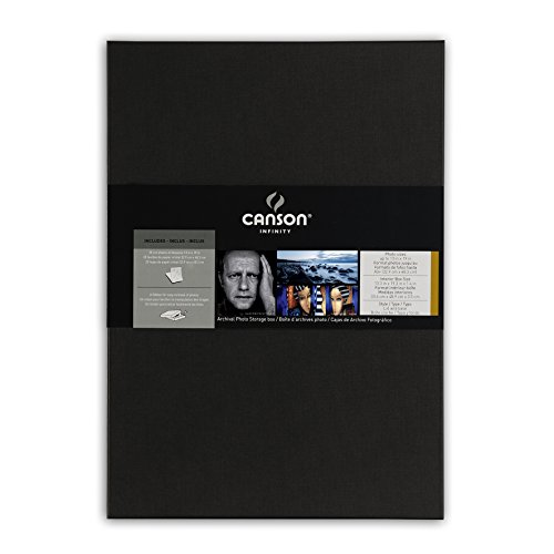 Canson Infinity Archival Box, for Images and Documents up to 13 x 19 inches, Fits 13 x 19 Inch Sheets, Black