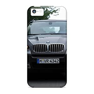 Iphone 5c Case Cover - Slim Fit Tpu Protector Shock Absorbent Case (grey Bmw X5 Front)