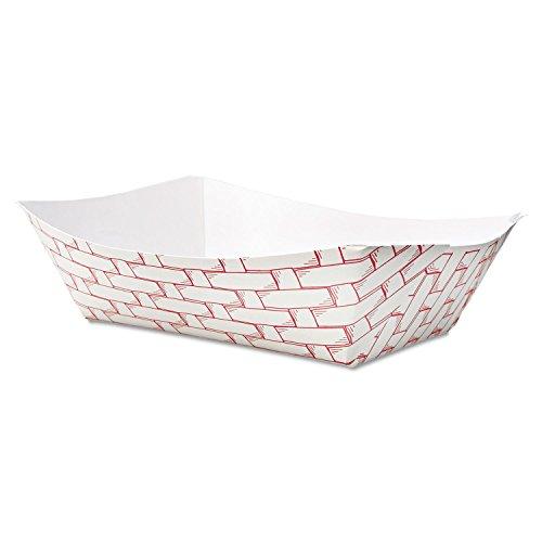 Boardwalk 30LAG300 Paper Food Baskets, 3lb Capacity, Red/white, ()