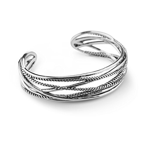 (Carolyn Pollack Sterling Silver Signature Rope Cuff - Large)