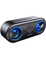 ZoeeTree S8 Bocina Bluetooth, Estéreo Bluetooth 5.0 Altavoz Bluetooth Portátil con LED, 12 Horas de Musica y Rango de 40m, Llamadas Manos Libres, 3.5mm AUX/Micro SD/TF/USB