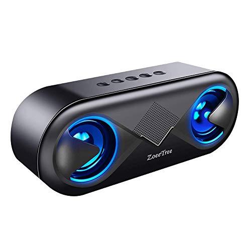 ZoeeTree S8 Tragbarer Bluetooth Lautsprecher 5.0, Bluetooth Box mit LED, 10W...