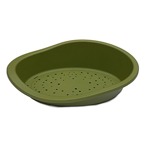 Rosewood Mp Bergamo Sonny Classic 80 Plastic Dog Bed (One Size) (Olive) For Sale