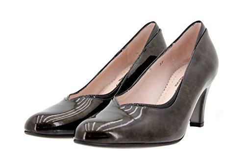 Calzado mujer confort de piel Piesanto 9206 zapato salón vestir cómodo ancho Taupe