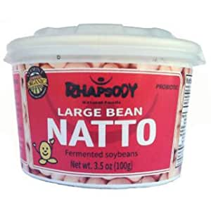 Fresh Organic Natto - Sticky Fermented Soy Beans, 3.5 oz - Case of 12 Made in Vermont