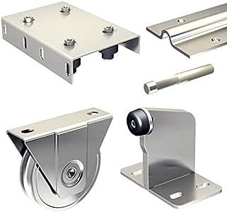 Haeusler-Shop SLIDUP 1600 - Herraje para puerta corredera con raíl inferior (600 cm, 3 x 200 cm, hasta 400 kg): Amazon.es: Bricolaje y herramientas