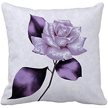 Amazon Com Uoopoo Purple Rose Accent Throw Pillow Covers