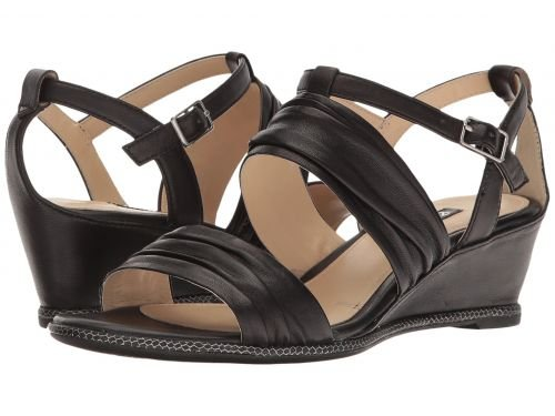 事前に確認平手打ちECCO(エコー) レディース 女性用 シューズ 靴 サンダル Rivas 45 II Wedge - Black Sheep Leather [並行輸入品]