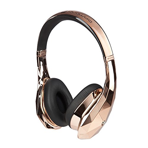 Monster DiamondZ Rose Gold On-Ear Headphones, Apple & Universal CT - Rose Gold by Monster