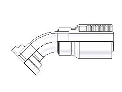 Parker Parkrimp Permanent SAE Code 61 Flange Head-45° Elbow (Hydraulic Flange Head)