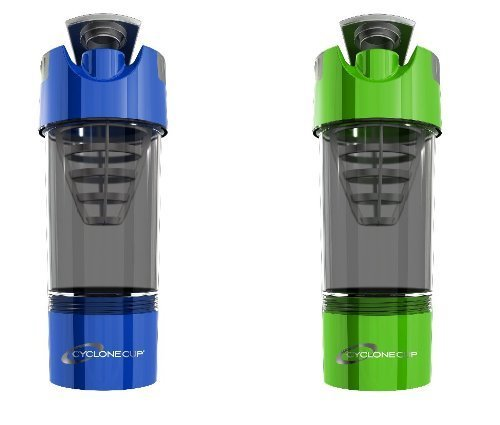 Cyclone Cup Shaker Bottle 20oz - Set of 2 - Blue and Green