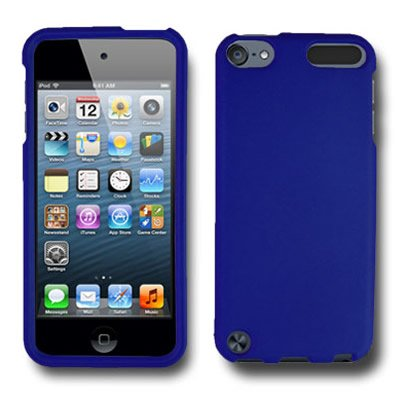 - iPod Touch 5 Case, CoverON [Snap Fit Series] Hard Rubberized Slim Protective Phone Cover Case for Apple iPod Touch 5 - Blue