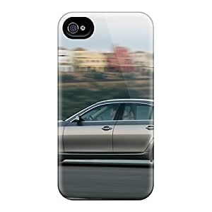 iPhone 5s Case Cover - Slim Fit Tpu Protector Shock Absorbent Case (bmw 5 Series Side View)