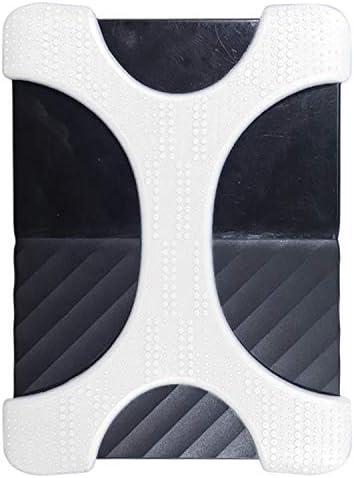 HHM 林Xタイプ2TB-4TB WD&SEAGATE&ホールのない東芝ポータブルハードドライブ、2.5インチポータブルハードドライブ用シリコンケース(ブラック) (Color : White)
