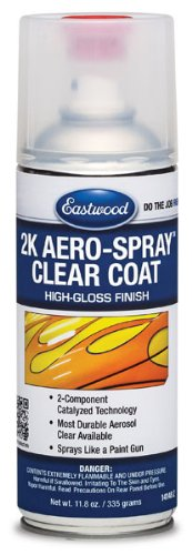 Eastwood 2K High Gloss Clear Coating Aerosol Spray 12 oz 8 SQ FT