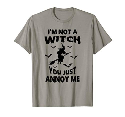 Funny Im Not A Witch Bruja Bats Witchcraft Costume T-shirt]()