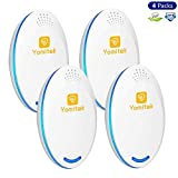 Yomitek 4-Pack Pest Control Ultrasonic Repeller Mosquitoes, Insects, Spiders, Mice,Rats,Roaches, Bugs, Flies More