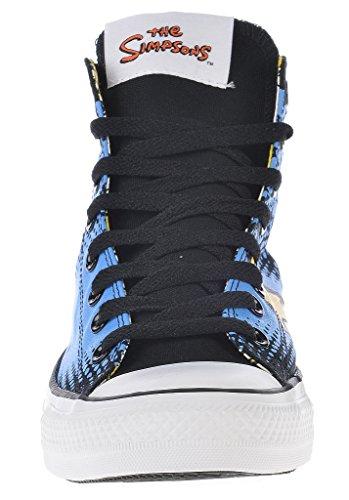 Mujer Zapatillas Piel Para Converse Schwarz Blau Gelb De Negro SwxzdnOR