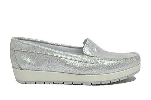 Igi&co Mocassini zeppa argento scarpe donna 77351