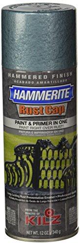 Masterchem Industries 41150 Hammerite Rust Cap Hammered Enamel Finish, 12 Oz Aerosol Can, 18 Sq.-Ft/Gal, Light Blue, Bule ()