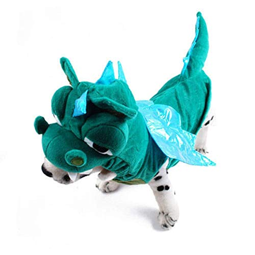 (Speedy Pet Dog Cat Halloween Costumes, Cute Dinosaur Dragon Puppy Cat Clothes Coat Hoodies Apparels)