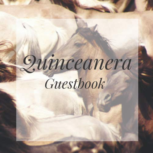 Photo Booth Frame Ideas (Quinceanera Guestbook: Horses Animal Lover Happy Birthday Event Signing Celebration Guest Visitor Book w/ Photo Space Gift Log - Party Reception ... for Special Sweet Memories - Unique)