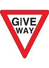 """Caledonia signos 17505 N""""give way"""" signo, plástico rígido, 400 mm x 400 mm"""