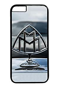iPhone 6 Case - Full-Body Protective Hard Case Bumper for iPhone 6 Maybach Car Logo 7 Scratch-Resistant Black Hard Case for iPhone 6 4.7 Inches