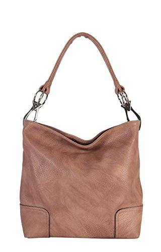 (Rimen & Co. Soft PU Leather Hobo Womens Purse Handbag HS-3637)
