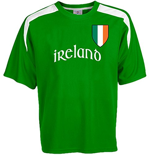 01ed58e15 Customized Ireland Soccer Jersey Adult 2X-Large in Kelly Green and White -  Buy Online in Oman.