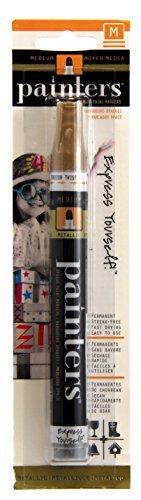 Elmer's Painters Opaque Paint Marker, Medium Tip, Gold (7329) (Acrylic Gold Jars)