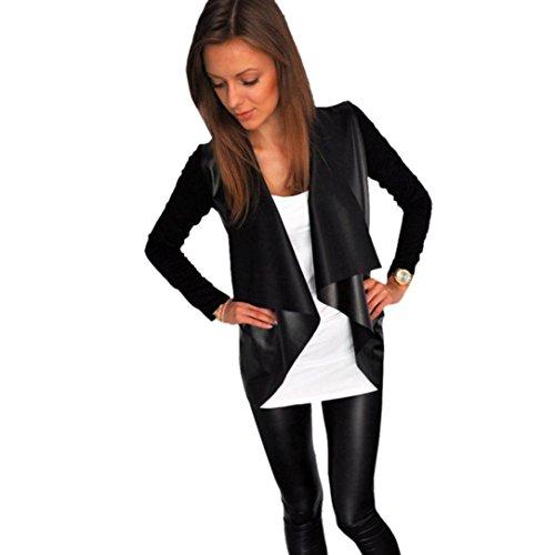 Lisingtool Women's Cardigan Outwear Jacket Coat (L, Black)