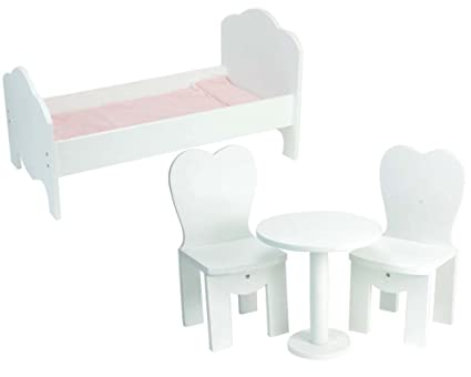 18 Inch Doll Wooden Furniture 4 Pc. Set Perfect For Doll 18 Inch Furniture  American