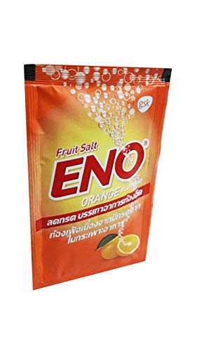 ENO, 20 Packs of ENO Sparkling Antacid Relief (Orange Flavoured, Fruit Salt) for Indigestion, Flatulence. (4.3 G/Pack).