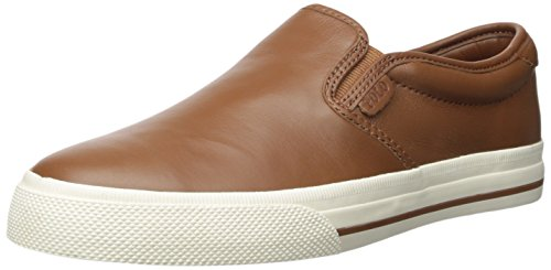 Polo Ralph Lauren Mens Vaughnslipii Sneaker Deep Saddle Tan