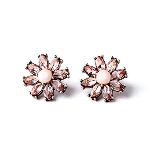Nubuck Stud - ptk12 Summer Nubuck Ms Romantic Classic Flowers Stud Earrings Factory New Arrival
